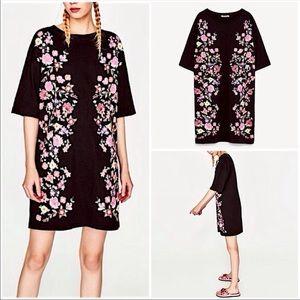 Zara Trafaluc black T-shirt dress - size medium